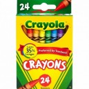 Crayola 24 ks pestrých voskoviek