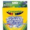 Crayola voskovky extra zmyvateľné, 8 ks