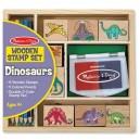 Melissa & Doug - Drevené pečiatky v krabičke - Dino