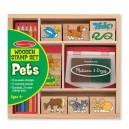 Melissa & Doug - Drevené pečiatky v krabičke - Zvieratká
