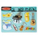 Melissa & Doug - Drevené puzzle so zvukmi - Hudobné nástroje