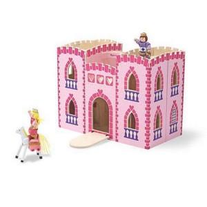 Melissa & Doug - Skladací ružový hrad
