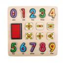 Legler pečiatkové puzzle Veselá matematika