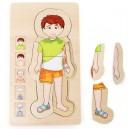 Legler Anatomia chlapec, puzzle