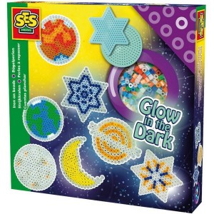 SES Creative Zažehľovacie korálky Svietiace hviezdy