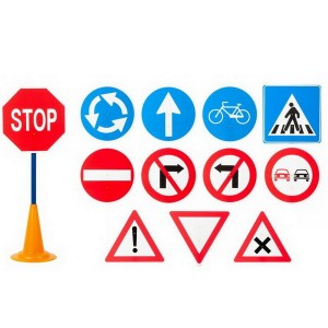 Dopravné značky, 12 ks