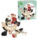 Drevená balančná hra Mačka, 12 dielikov