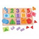 Veľká doska s vkladaním - Čísla, farby, tvary