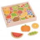 Drevené magnetky Ovocie a zelenina, 35 ks