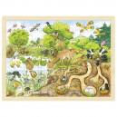 Drevené puzzle Objavujeme prírodu, 96 dielikov