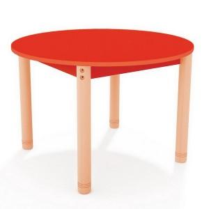 Stôl okrúhly, farebná doska Ø 90 cm