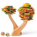 Woody Drevená balančná hra Strom, 183 dielikov