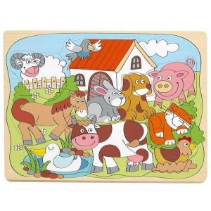 Woody Puzzle Domáce veselé zvieratká