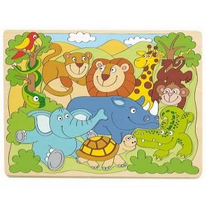 Woody Puzzle Africké zvieratká