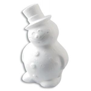 Polystyrénový snehuliak, 16.5 cm, 1 ks