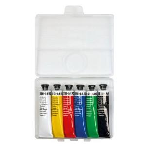 Temperové farby v tube 6 x 18 ml