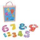 Drevené puzzle Čísla 1-9