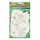 Papierové masky Exotické zvieratá, 6 ks
