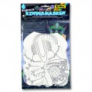 Papierové masky Vesmír, 6 ks