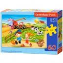 Castorland Puzzle Leto na dedine, 60 dielikov