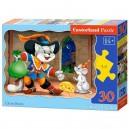 Castorland Puzzle Kocúr v čižmách, 30 dielikov