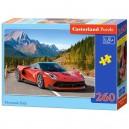 Castorland Puzzle Červené auto v horách, 260 dielikov