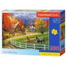 Castorland Puzzle Konská farma v údolí, 200 dielikov