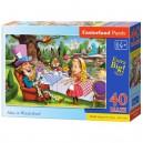 Castorland Puzzle Alenka v ríši divov, 40 dielikov