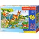 Castorland Puzzle Jelenček, 20 dielikov