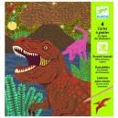 Djeco Vyškrabávacie obrázky Doba dinosaurov