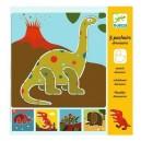 Djeco Šablóny Dinosaury, 5 ks