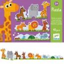 Djeco puzzle duo, Malé a veľké zvieratká