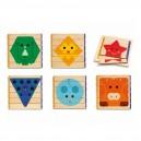 Djeco Drevené puzzle Basic - prvá edukatívna hračka