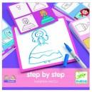 Djeco Kreslenie krok za krokom, Princezny
