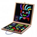 Djeco Magnetky v kufríku Geometrické tvary, postavičky