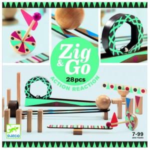 Djeco Zig & Go, stavebnica 28 dielov