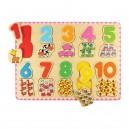 Bigjigs Toys Počítacie puzzle