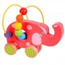 Bigjigs Baby Motorický labyrint na kolieskach Slon