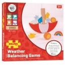 Bigjigs Toys Balančná hra Počasie, 13 dielikov