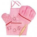 Bigjigs Toys Kostým šéfkuchára, ružový