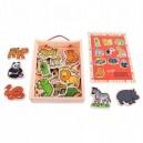 Bigjigs Toys Drevené magnetky Džungľa, 20 dielikov