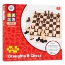 Bigjigs Drevené šachy a dáma