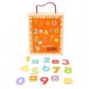 Bigjigs Toys Magnetické počítanie, 88 dielov