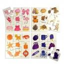 Bigjigs Toys Drevené didaktické puzzle farby 4v1