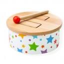 Bigjigs Toys Drevený bubon Hviezda, 19.5 cm