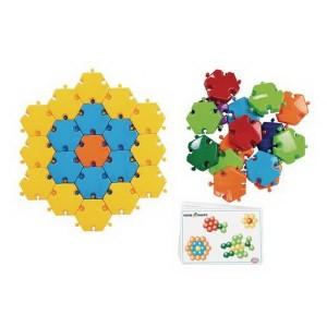 Školská stavebnica Hexagon, 96 ks + 8 kariet