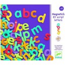 Djeco Drevené magnetky Malé písmená, 83 ks